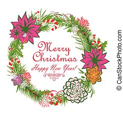 Christmas decorative wreath.eps