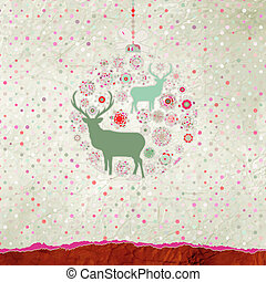 Christmas deer card. EPS 8