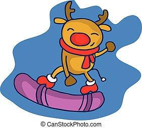 Christmas deer character cartoon collection