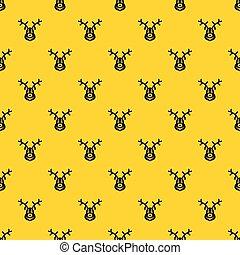 Christmas deer pattern vector