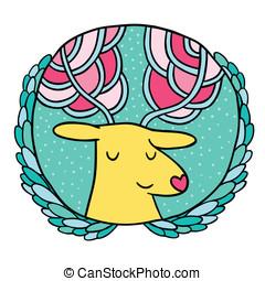 Christmas deer Sale badge