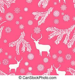 Christmas deer, seamless illustration. EPS 8
