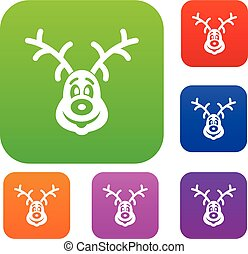 Christmas deer set collection