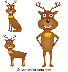 Christmas deer set