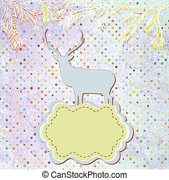 Christmas deer template card. EPS 8