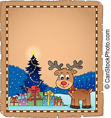 Christmas deer topic parchment 2