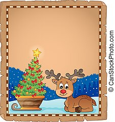 Christmas deer topic parchment 3