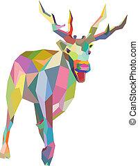 Christmas Deer trendy hipster style