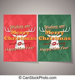 Christmas deer vector background