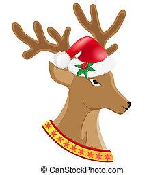 christmas deer vector illustration