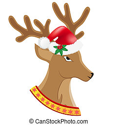 christmas deer vector illustration