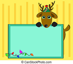 Christmas Deer with Message Board