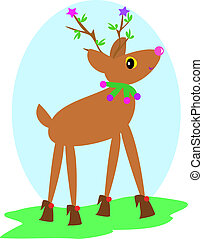Christmas Deer with Shoes