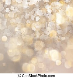 Christmas defocused blurred gold background with showflakes. EPS 10