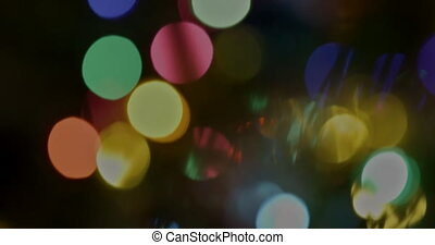 Christmas colorful defocused bokeh light abstract holiday background