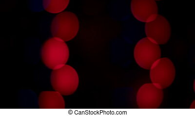 Christmas defocused garland lights