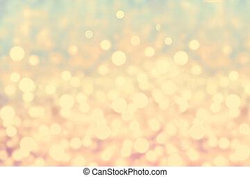 Christmas Defocused gold Bokeh light Vintage background....