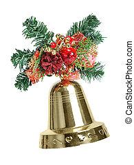 christmas dekoráció, noha, csengő