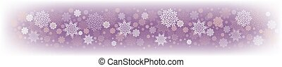 Christmas delicate purple design with a set of white snowflakes.