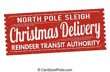 Christmas delivery grunge rubber stamp
