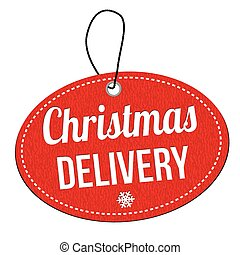 Christmas delivery label or price tag