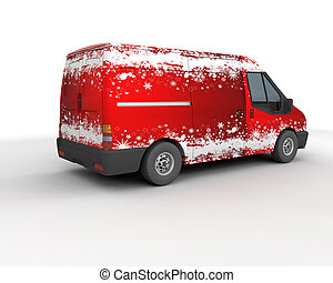 Christmas delivery van