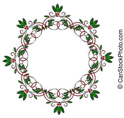 Christmas Design element round