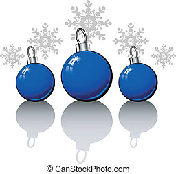 Christmas design elements with blue