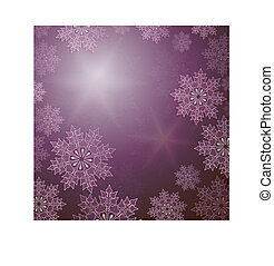 Christmas design in purple with elegant snowflakes.