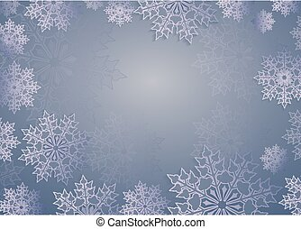 Christmas design light blue color with beautiful white snowflakes