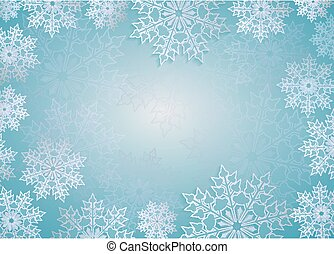 Christmas design light blue color with elegant white snowflakes.