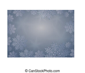 Christmas design light blue with rays of light, elegant white snowflakes,