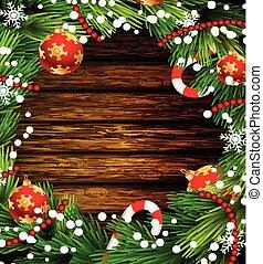 Christmas design on wood