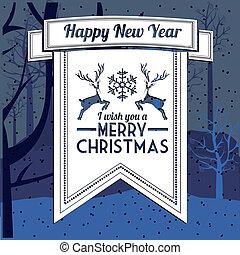 Christmas design over blur background, vector illustration