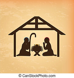 christmas design over cream background vector illustration