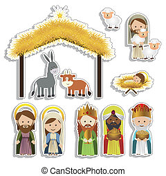 christmas design over white background vector illustration