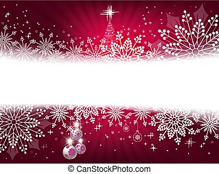 Christmas design pink with snowflakes, sparkles and white balls,