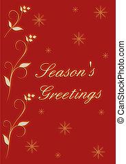 Christmas design season's greetings