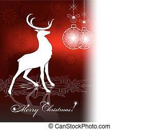 Christmas design with a deer