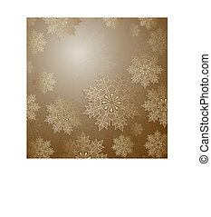 Christmas design with a set of gold color snowflakes.