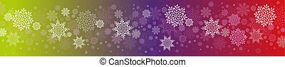 Christmas design with a set of graceful white snowflakes