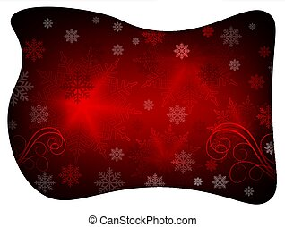 Christmas design with a white frame, with lots of wonderful snowflakes.
