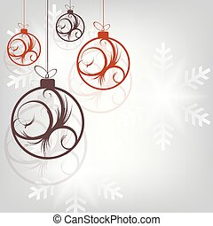Christmas design with beautiful balls with abstract pattern.