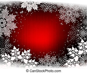 Christmas design with glitter and gorgeous white snowflakes.