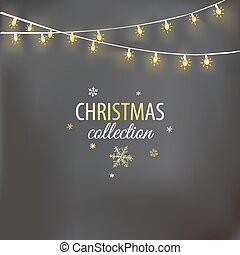 Christmas design with light garland