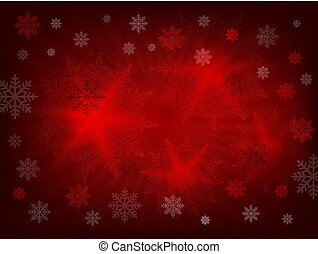 Christmas design with rays of light and lots of wonderful snowflakes.