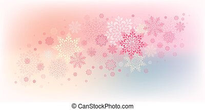 christmas design with snowflakes