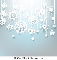 Christmas design with snowflakes. EPS 10
