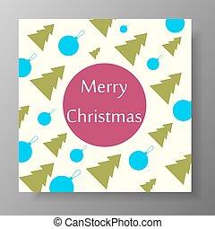 Christmas design with tree and balls.
