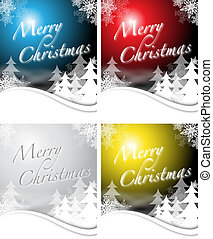 christmas designs in 4 colors